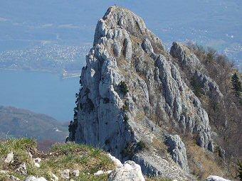 Voie normale de la Dent du Chat 1390m, Bourdeau, Savoie
