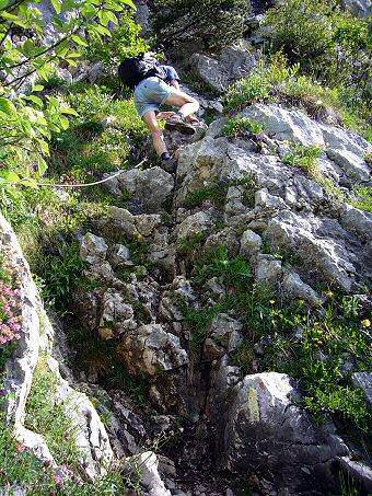Le Pas des Barres permet d'accéder au plateau du Mont Granier